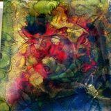 Dekoruota lėkštutė rožių apsuptyje3