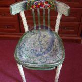 Dekoruota buhalterio kėdė