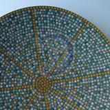 Žalia mozaikos lėkštė