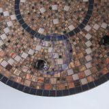 Ruda mozaikos lėkštė