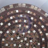 Rudų apskritimų mozaikos lėkštė