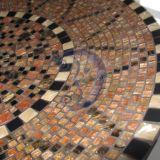 Mozaikos lėkštė - tamsi saulėgrąža