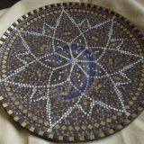 Didelis, rudas mozaikos padėklas