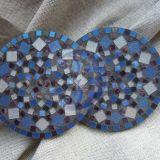 Mėlyni mozaikos padėkliukai