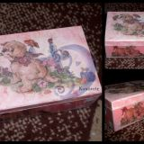 Dekoruota dėžutė mergaitei