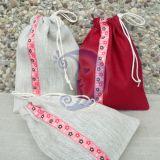 Lininių maišelių rinkinys