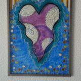 """Vitražas / paveikslas """"Širdis"""""""