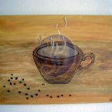 lauksiu taves prie puodelio kavos