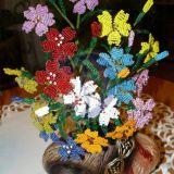 Gėlės iš karoliukų