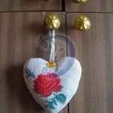 Širdelė su rožyte
