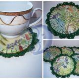Padėkliukai - servetėlės po arbatos puod