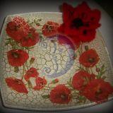 Dekupažuota dekoratyvinė lėkštė