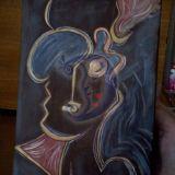 Abstraktus piešinys.Moteris