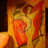 knygelė. Abstrakčiu piešiniu.pora