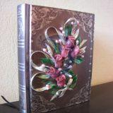 dekoruota uzrasu knygele