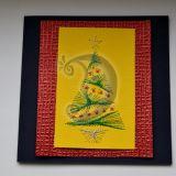 """Kalėdinis siuvinėtas atvirukas """"Egl"""