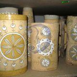 ivairių dydžių šamotinės vazos