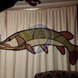 Vitražinė žuvis -  lydeka