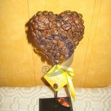 Kavos širdelė-atvirukas