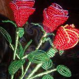 Rožės iš biserio...