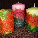 Dekoruotos žvakės
