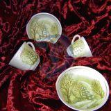 Dekorativiniai puodeliai ir lekštutės