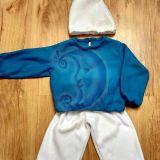 Smurfo vaikiškas karnavalinis kostiumas