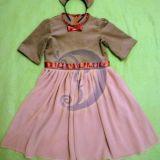 Pelytės karnavalinis kostiumas mergaitei