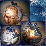 """Kalėdinis burbulas """"Angelas 3"""""""