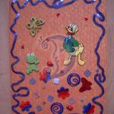 dekoruotas nuotraukų albumas su antinu