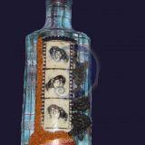 Dekoruotas butelis Damai