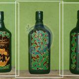 Azurinis zalias butelis dovana vyrui