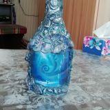 Dekoruotas butelis-Jūroje