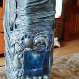 Dekoruotas butelis-Jūra
