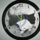 Sieninis laikrodis iš vinilo plokštelės
