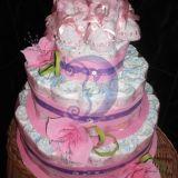 Sauskelnių tortas mergaitems dvinukems