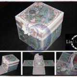 Dėžutė-sveikinimas/ 3D vežimėlis