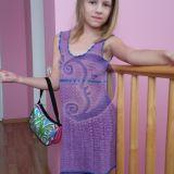 Nerta violetinė suknelė