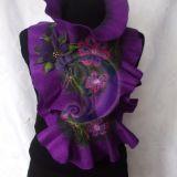 Violetinis pilkas veltas salikas