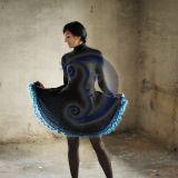 megztas trisluoksnis sijonas