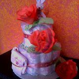 Sauskelnių tortas mergaitei
