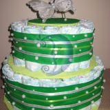 """Sauskelnių tortas """"Žaliasis perlas&"""