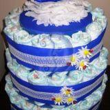 """Sauskelnių tortas """"Mėlyna Bitutė&am"""