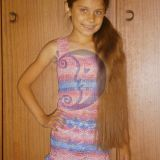 Nerta suknelė mergaitei