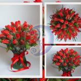 Saldainių rožių puokštė