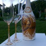 Vestuvinis butelis su tauremis