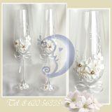 Vestuvines dekoruotos taures