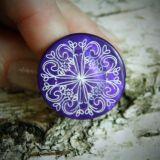 Žiedas Purple Cross