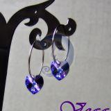 Mėlynai violetinė širdelė