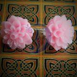 Auskarai Jurginai rožiniai